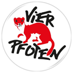 Button Vier Pfoten
